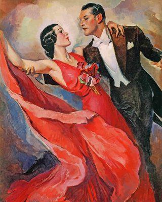 Vintage Dancers Art paint by number