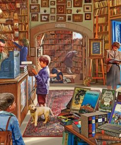 Vintage Library Shop paint by numbers
