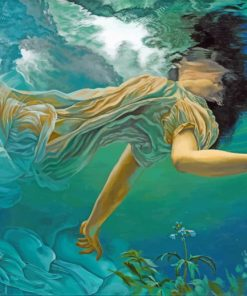 Woman undersea Art paint by numbers