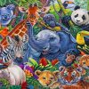Zoo Animals paint by numbers