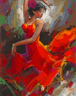 Woman Dancing paint by numbers