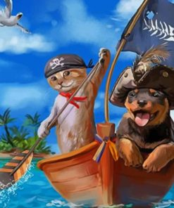 Adorable Pirates paint by numbers