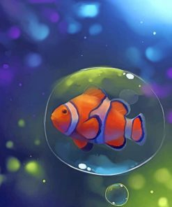 Aesthetic Clown Fish paint by numbers