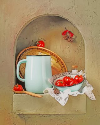Aesthetic Tomatoes Still Life  paint by numbers