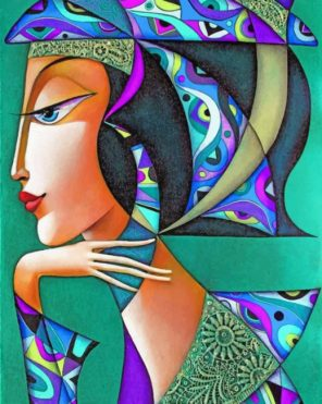 Artistic Woman Paint by numbers
