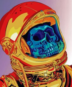 Astronaut Skull Paint by numbers