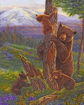 bear and cubs paint by numbers