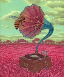 Bee Listening To Music paint by numbers