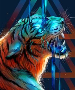 Bengal Tiger Paint by numbers