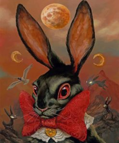 black-rabbit-paint-by-numbers