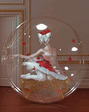 Broken Bubble Ballerina Paint by numbers