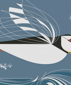 Charley Harper Puffin Paint by numbers