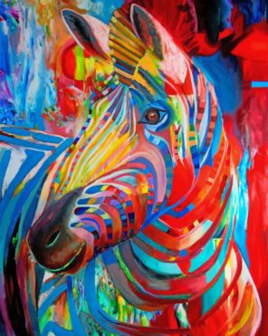 Colorful Zebra Paint by numbers