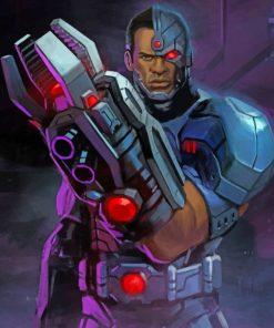 cyborg hero paint by numbers