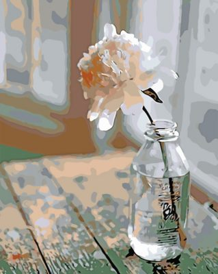 Flower In A Glass Bottle Paint by numbers