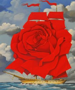Flower Ship paint by numbers