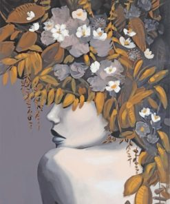 Floral Woman Paint by numbers