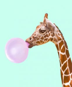 Girraffe Blowing Bubble Paint by numbers