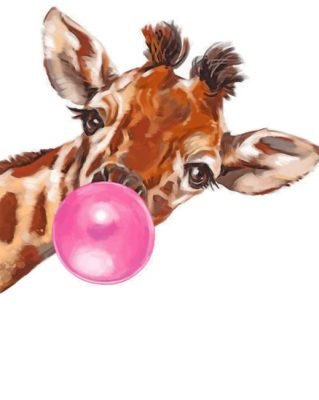 Giraffe Bubble paint by numbers