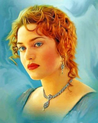 kate winslet Titanic paint by number