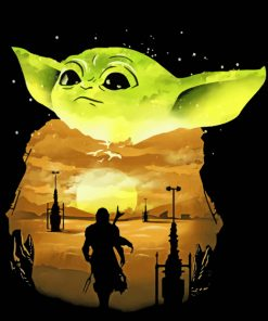 mandalorian baby yoda Art paint by number