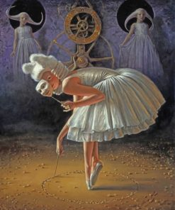 Masked Ballerina Paint by numbers