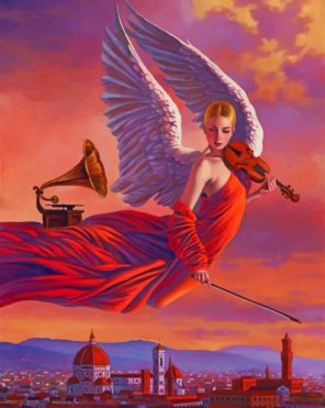 Musician Angel Paint by numbers