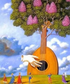 Musician Tree Paint by numbers