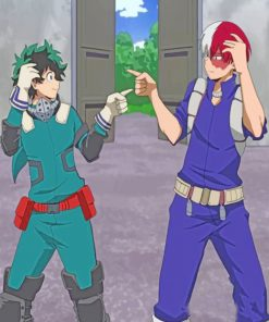 Izuku Midoriya And Shoto Todoroki Paint by numbers