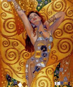 The New Woman In Gold Paint by numbers