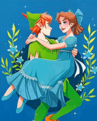 peter pan and wendy paint by number
