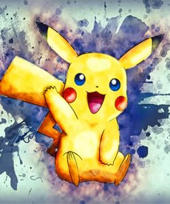 pikachu paint by number