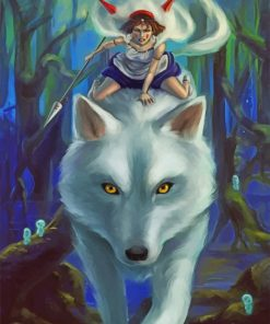 Princess Mononoke paint by numbers