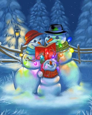 Snow Family Paint by numbers