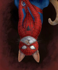 Spider Cat paint by numbers