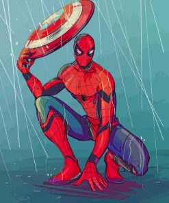 spider man civil war art paint by number