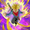 super saiyan trunks paint by numbers