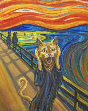 the cat scream paint by number