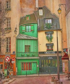 The Old Paris paint by numbers