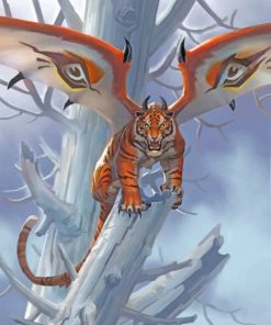 Tiger With Wings Paint by numbers