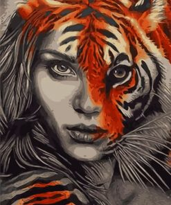 Tiger Woman Paint by numbers