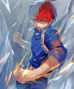 Todoroki My Hero Academia Paint by numbers