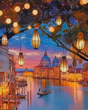 venice Italy night paint by numbers