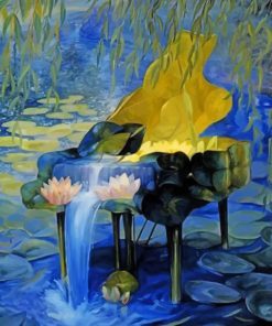 Waterfall Piano paint by numbers