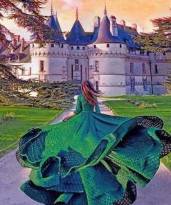 Woman In Chaumont Castle paint by numbers