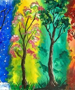 4 Seasons paint by numbers
