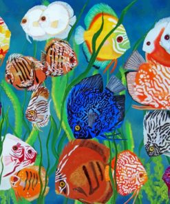 Aquarium Fishes In Sea paint by number