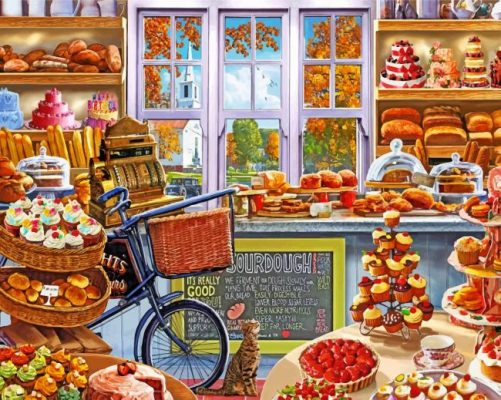 Bakery Shop paint by numbers