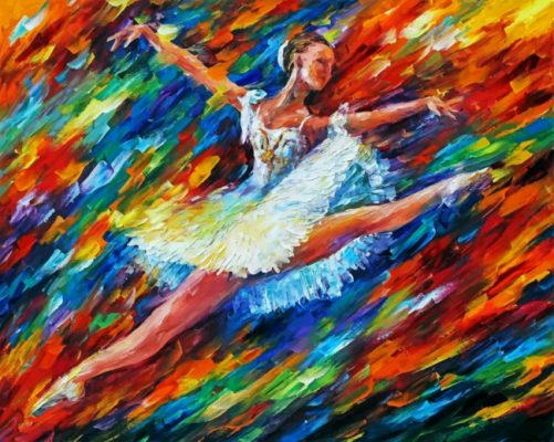 Ballet Dancer Art paint by numbers