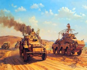 Battle Tanks Art paint by numbers
